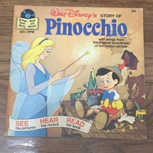 Disneyland record Pinocchio see here read book.